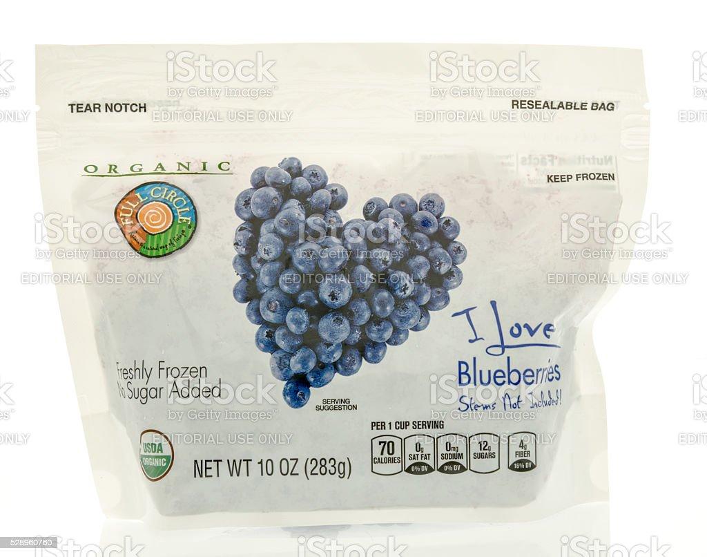 Organic Blueberries Frozen stock photo