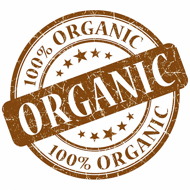organic Timbro marrone - foto stock