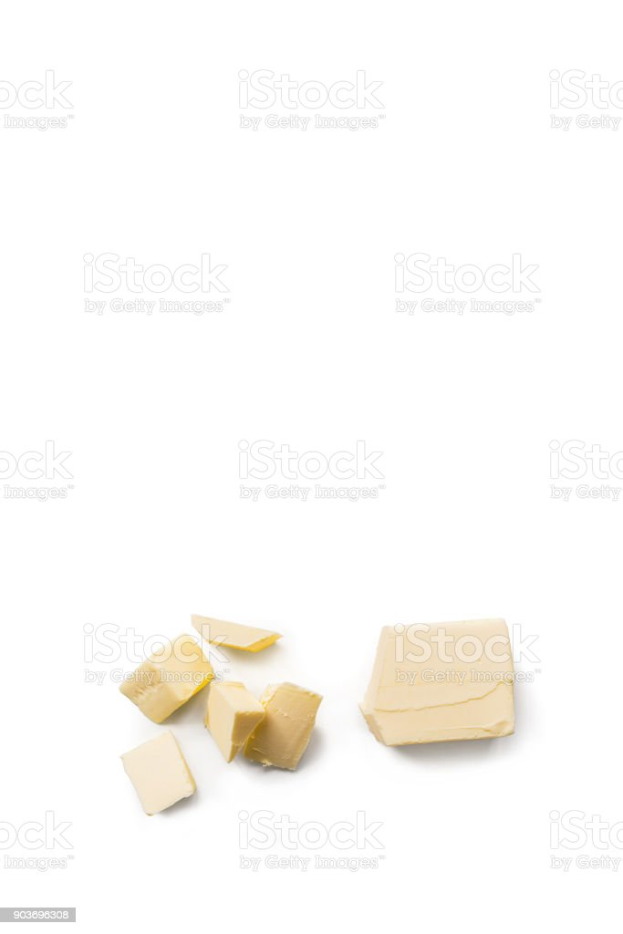 Organic Butter isolated on white background. stock photo
