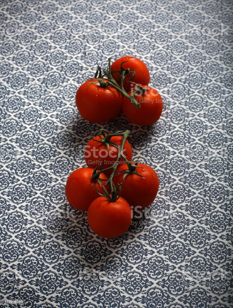 organic cherries tomatoes stock photo