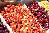 Colorful cherry at Cherry festival - Romania