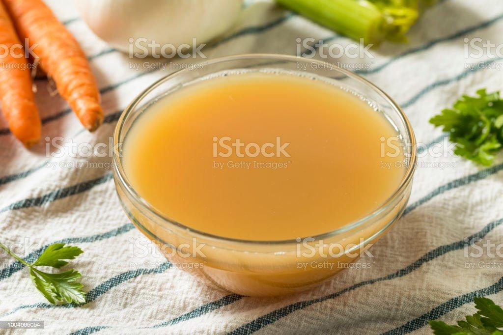 Organic Chicken Bone Broth stock photo