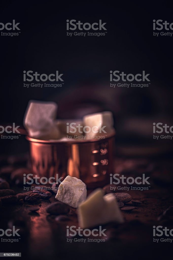 Organic Cocoa Butter royalty-free stock photo