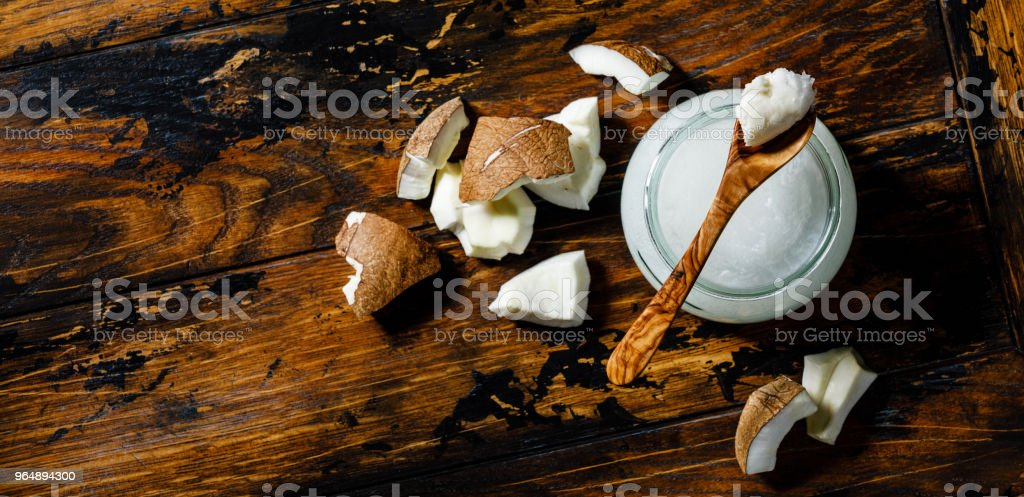 Organic Coconut butter royalty-free stock photo