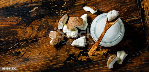 Organic Coconut Butter Stock Photo & More Pictures of Backgrounds