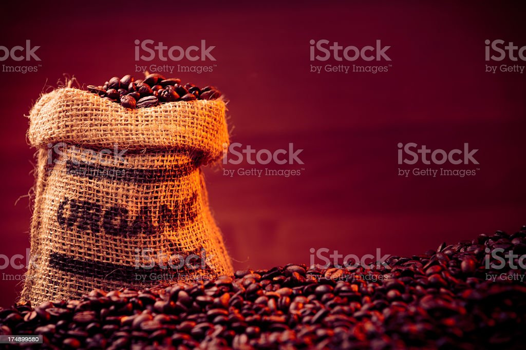 organic coffee beans royalty-free stock photo
