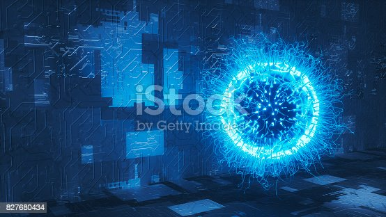 istock Organic computer network security concept. 827680434