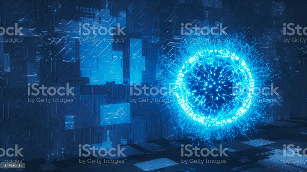 Organic computer network security concept. stock photo