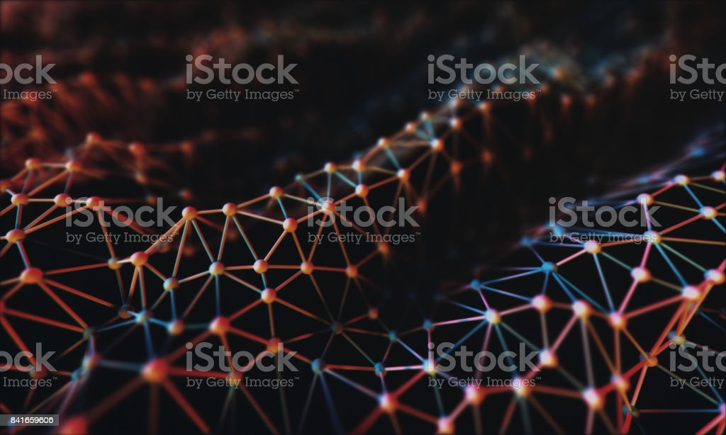 3D Organic Connections stock photo