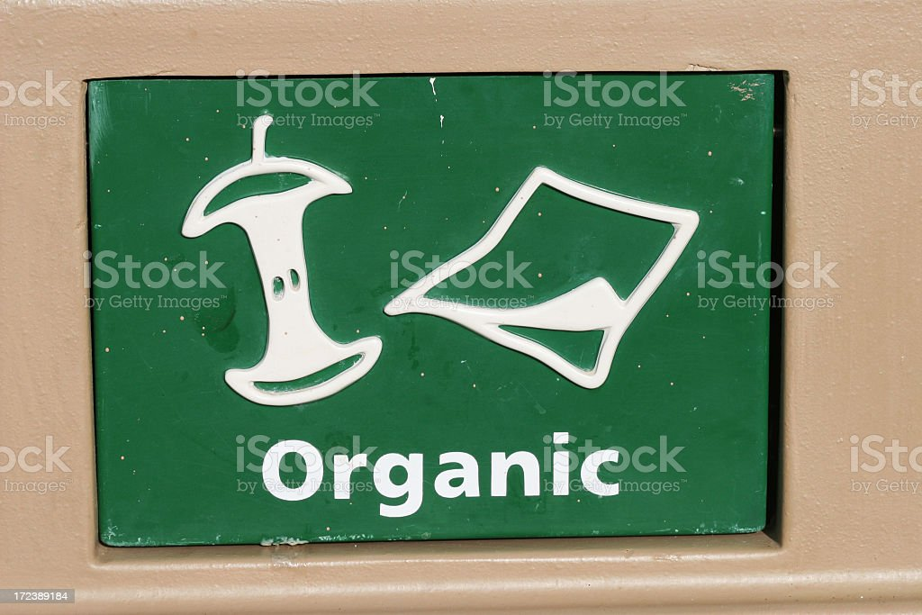 Organic container royalty-free stock photo