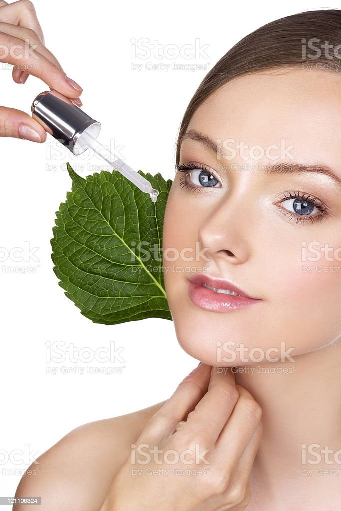 Organic cosmetic royalty-free stock photo