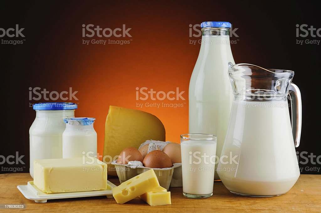 organic dairy products royalty-free stock photo