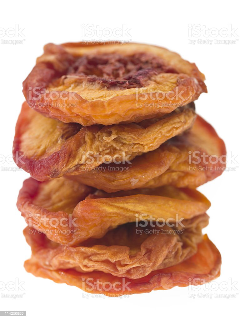 Organic Dried Peaches royalty-free stock photo