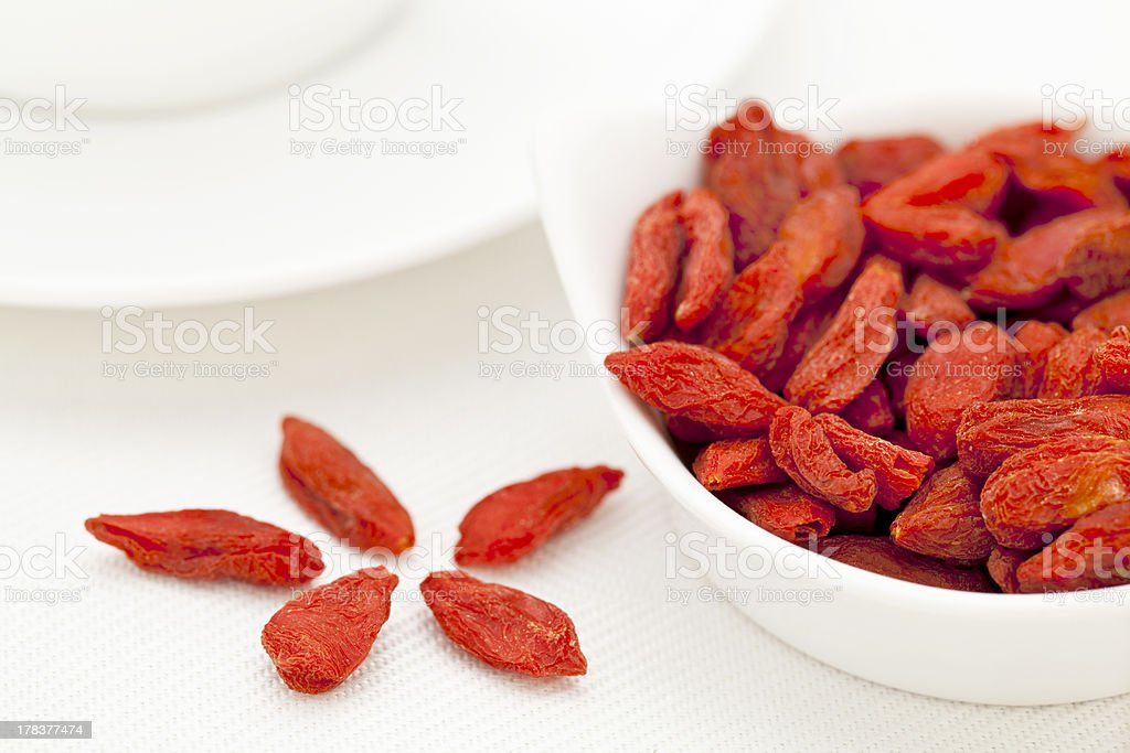 organic dried Tibetan goji berries royalty-free stock photo