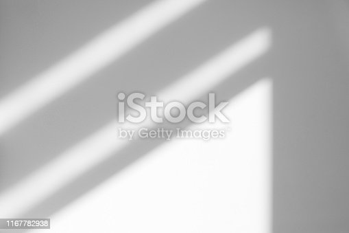 istock Organic drop shadow on a white wall 1167782938