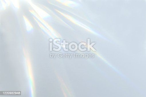 istock Organic drop shadow on a white wall 1220932948