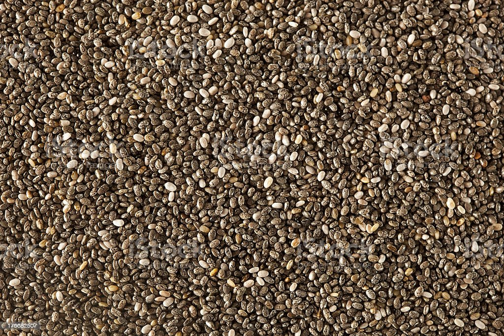 Organic Dry Chia Seeds royalty-free stock photo