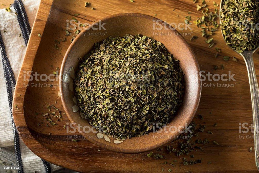 Organic Dry Mint Spice stock photo