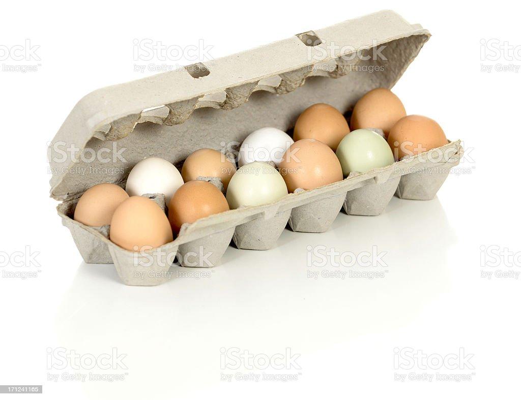 Organic Eggs from Free Range Chickens stock photo