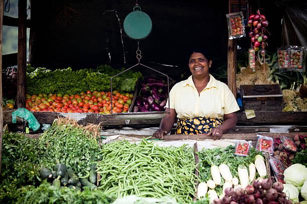 organic farm produce market sri lanka stock photo