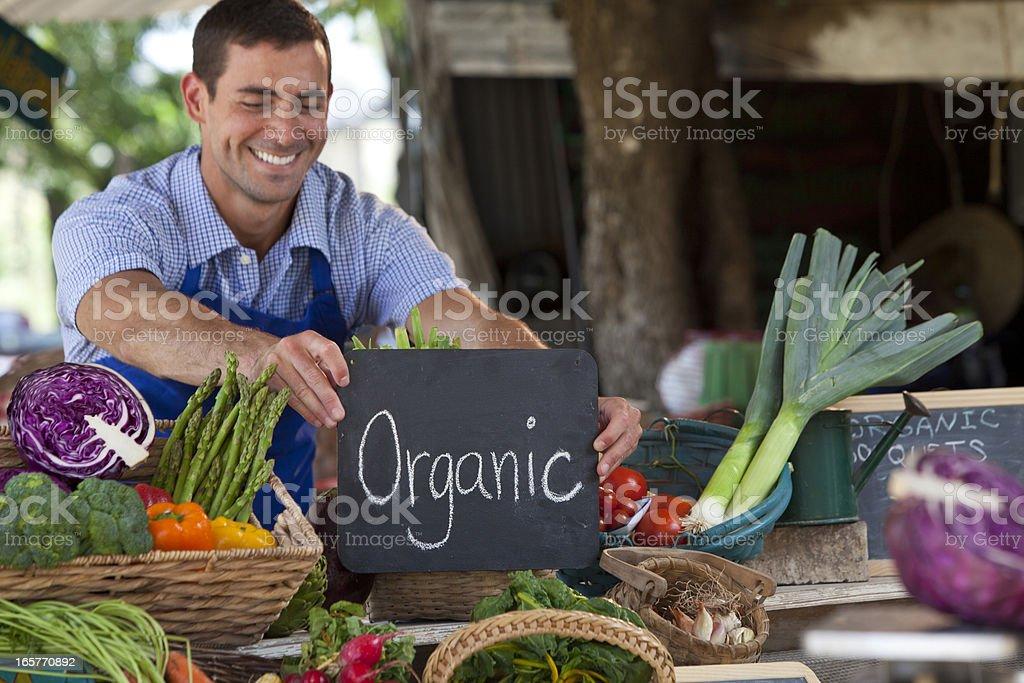 Organic Farmer stock photo