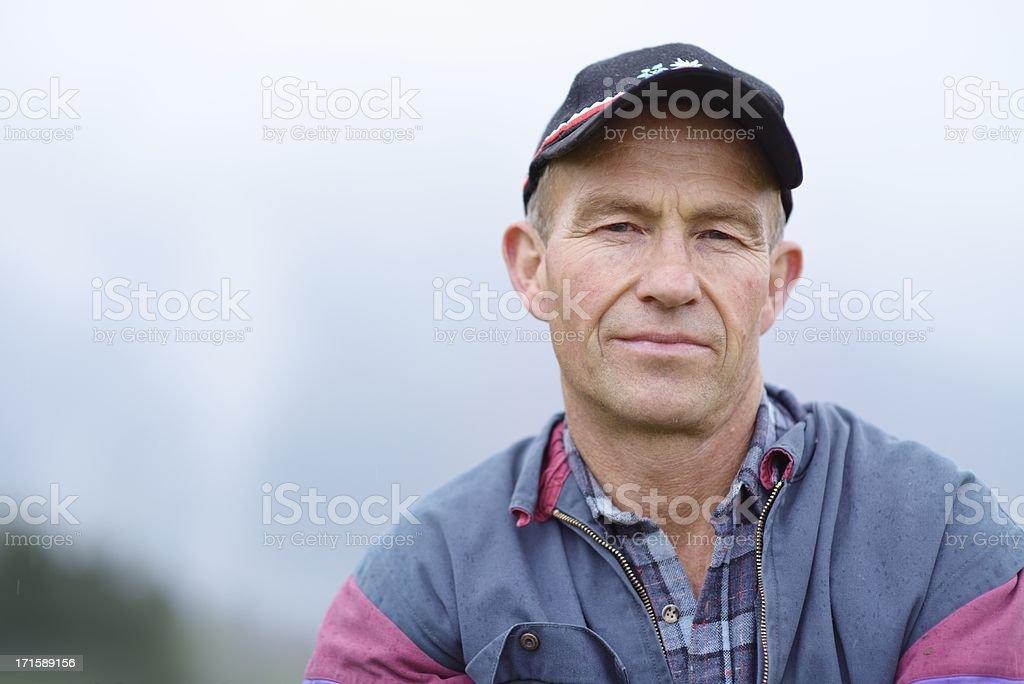 Fermier bio Portrait en plein air - Photo