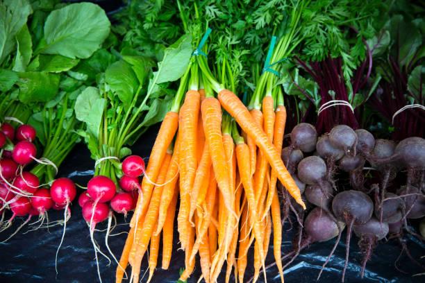 Organic Farmer's Market Penticton Okanagan Valley stock photo