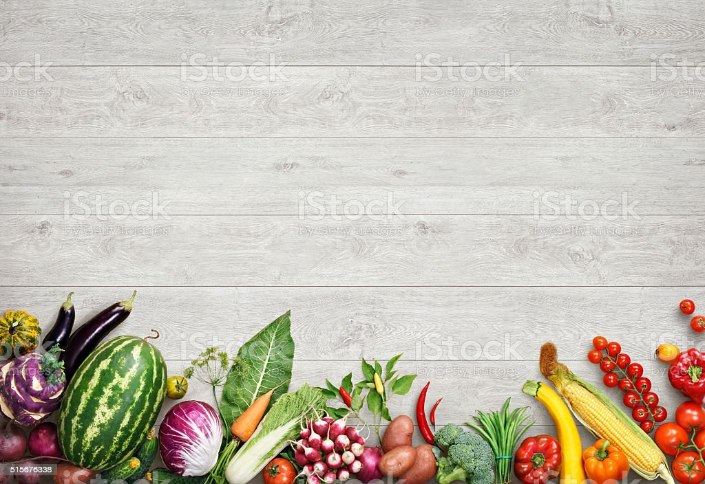Organic Food Background Studio Photo Of Different Fruits ...
