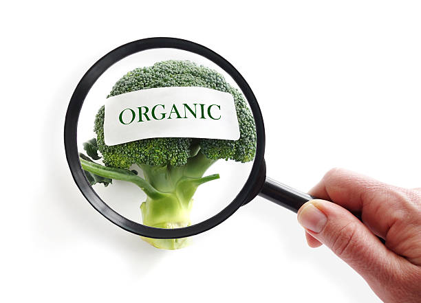 organic food inspection - fda stock photos and pictures