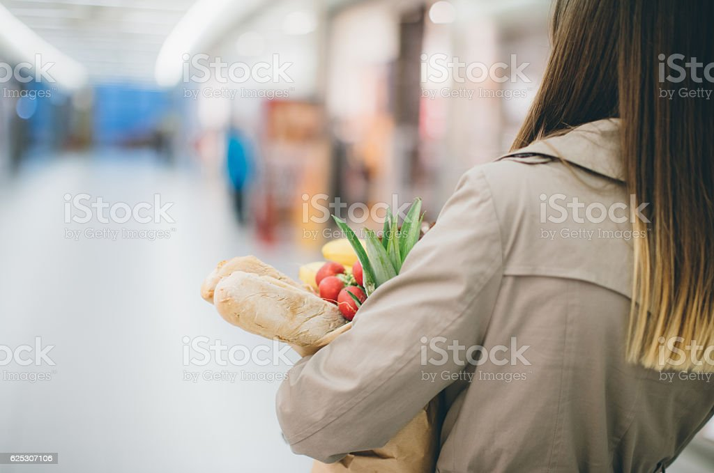 Organic food only stock photo