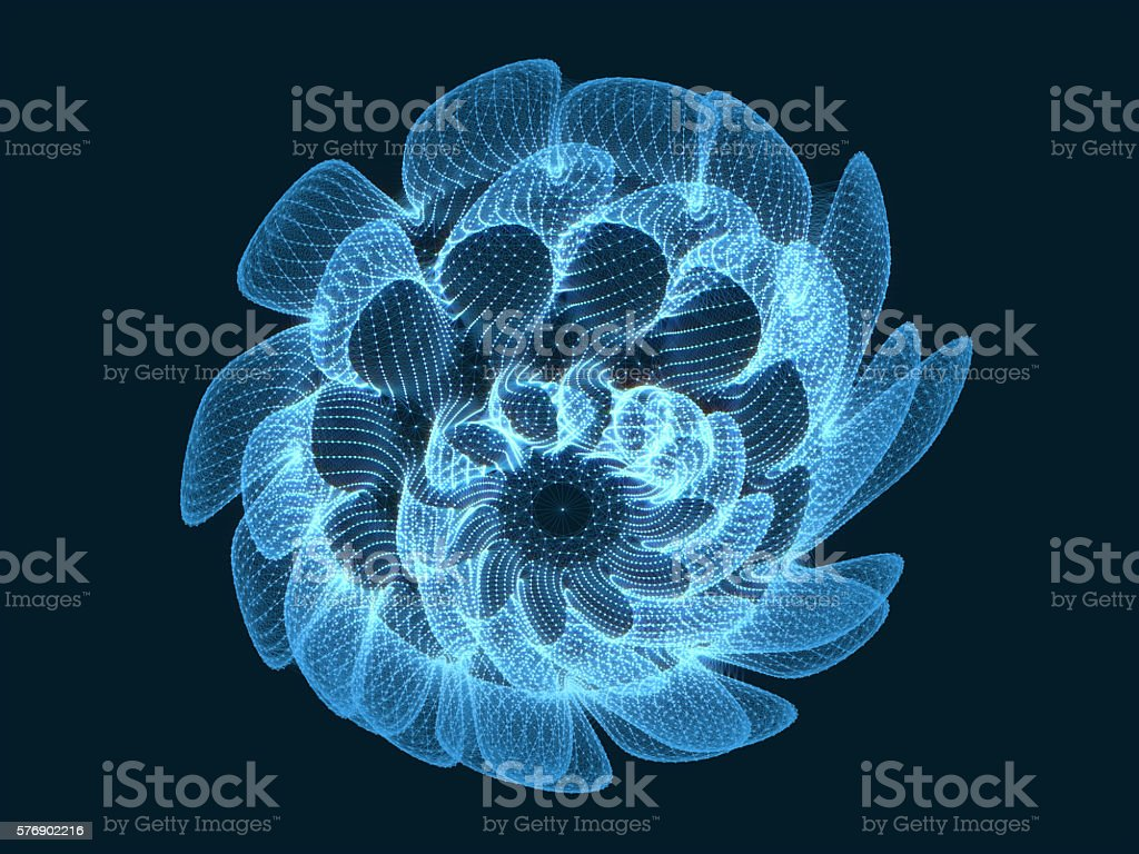 Organic Forms with connecting dots and lines. stock photo