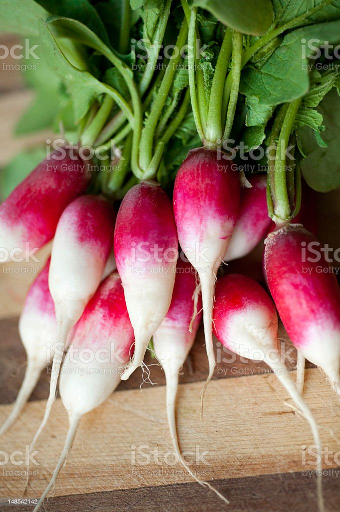 Organic French Radishes from the Farmers Market stock photo