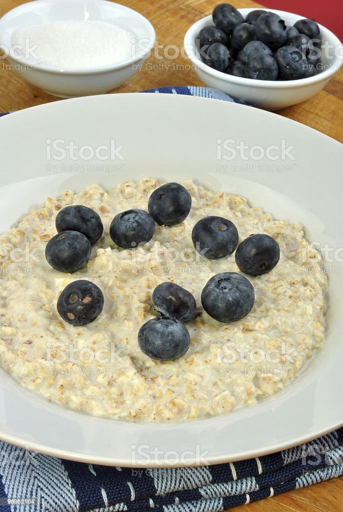 organic fruit with porridge on a plate royalty-free stock photo