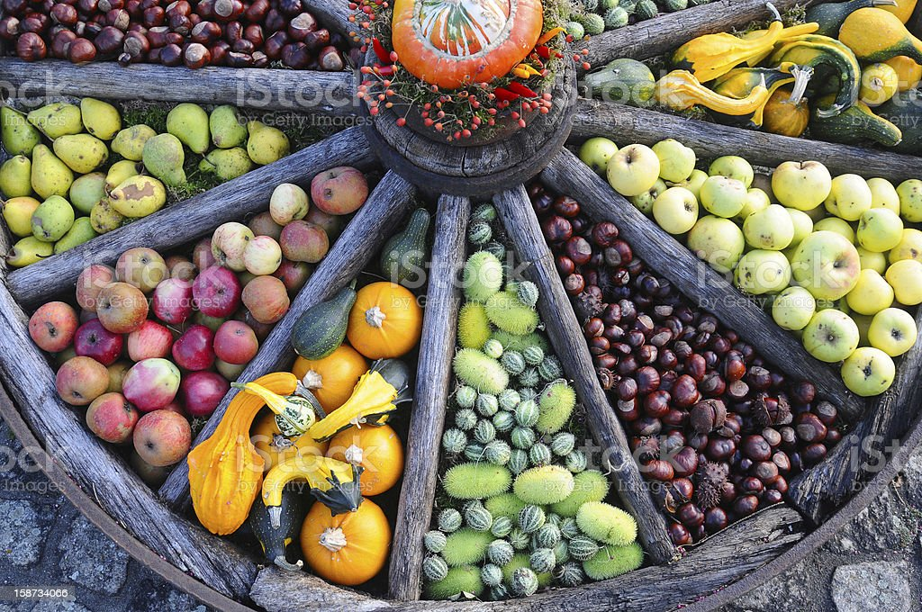 Organic fruits and vegetables royalty-free stock photo