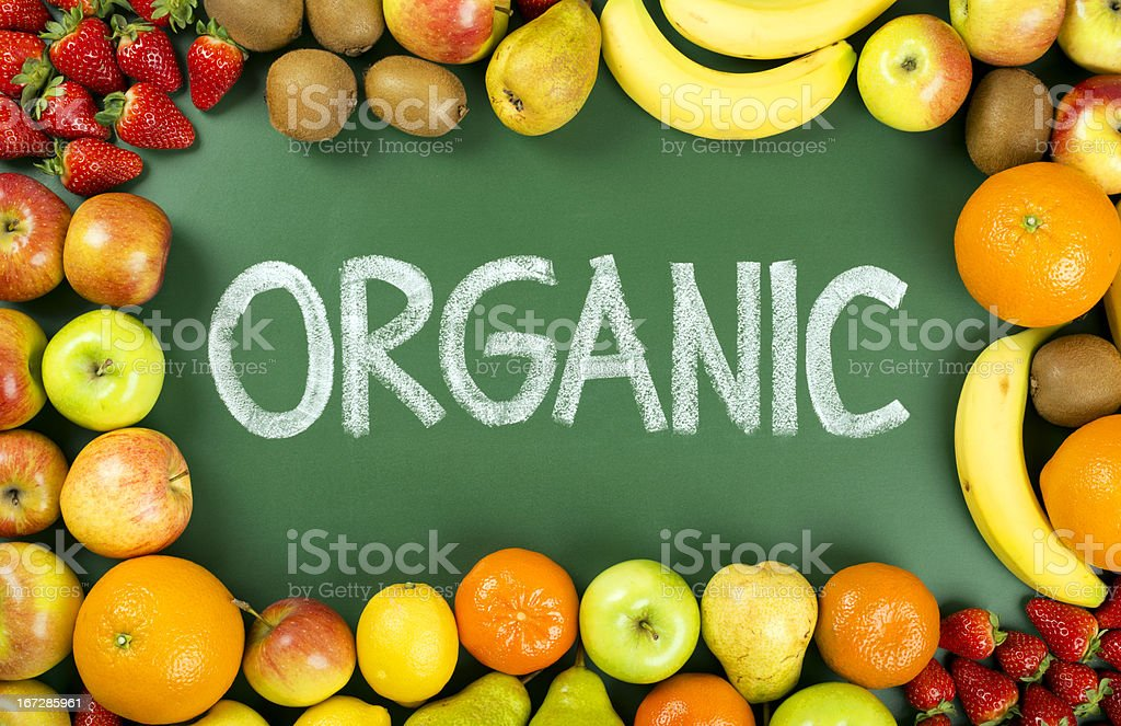organic fruits royalty-free stock photo
