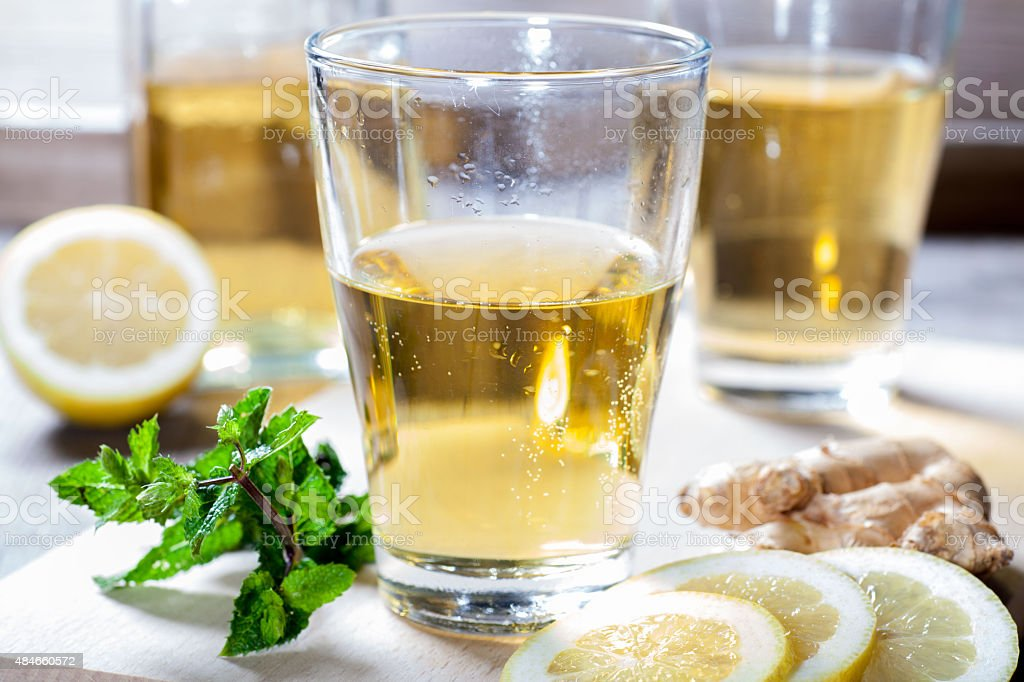 organic  Ginger Ale stock photo