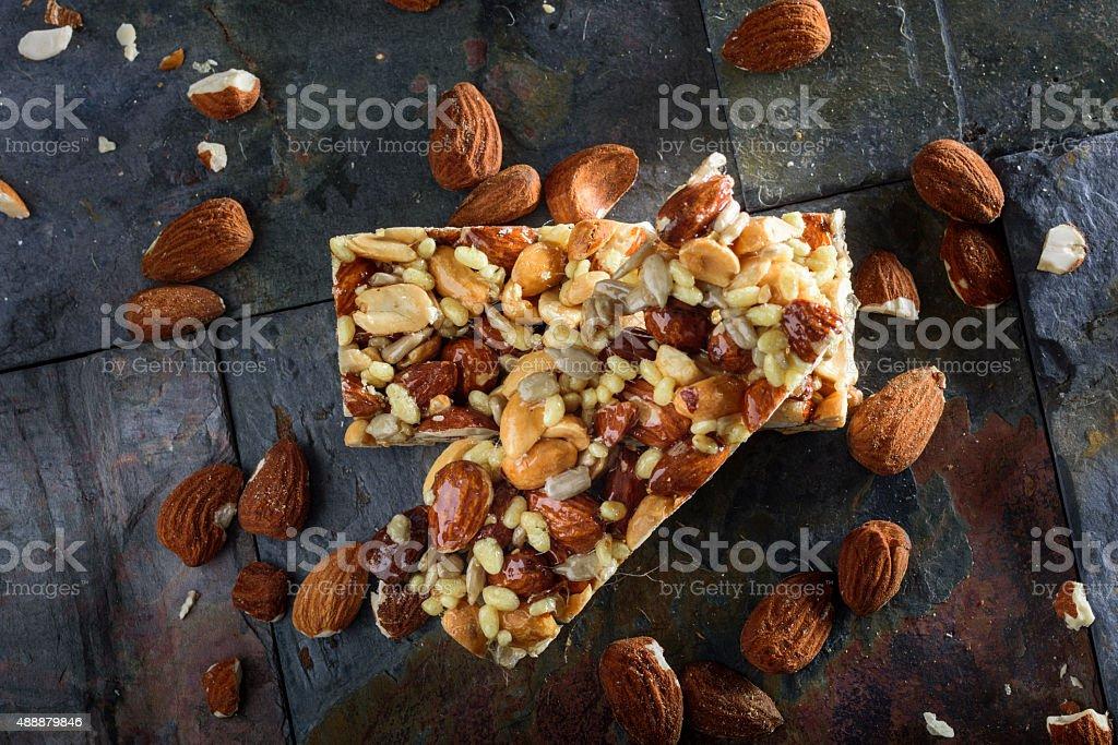 Organic barra de cereal de Granola - foto de acervo