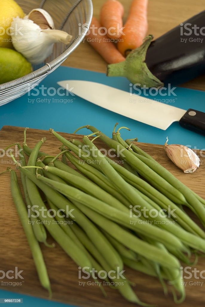 Organic green beans royalty-free stock photo