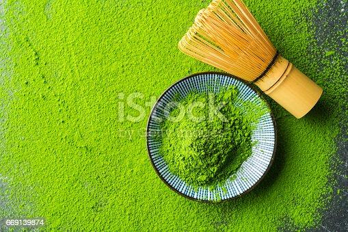 istock Organic Green Matcha Tea 669139874