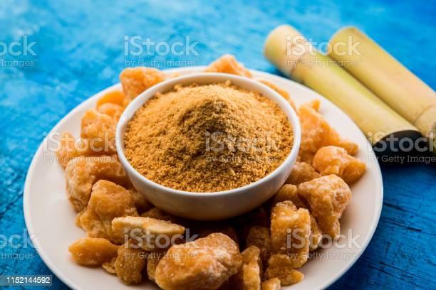 Organic Gur Or Jggery Powder Stock Photo - Download Image Now