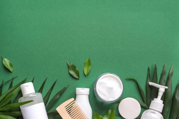biologische haarverzorging - creme huid stockfoto's en -beelden