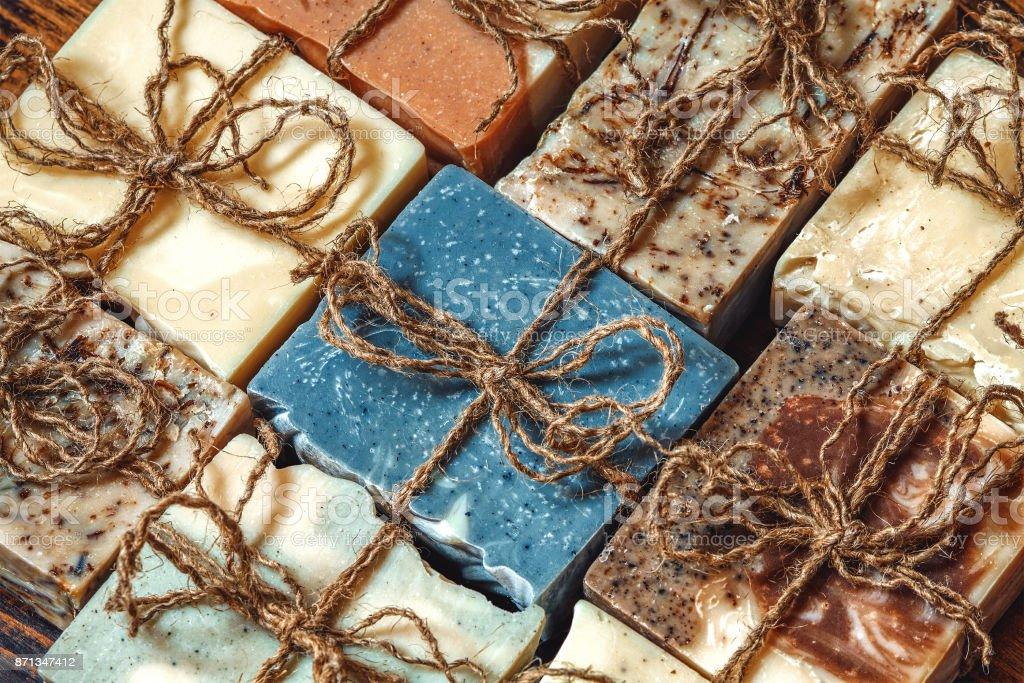 Organic handmade soap. stock photo