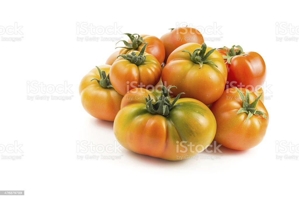 Organic Heirloom Tomatoes stock photo