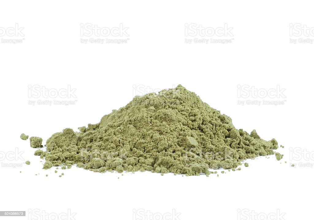 Organic hemp protein powder stock photo