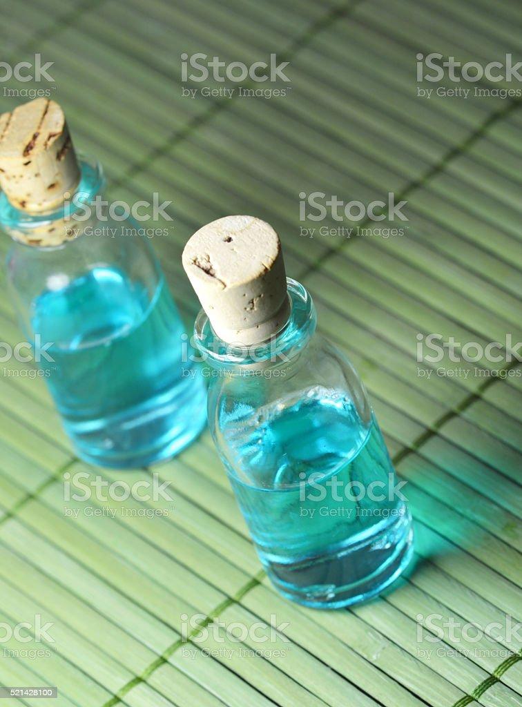 Organic herbal oil stock photo