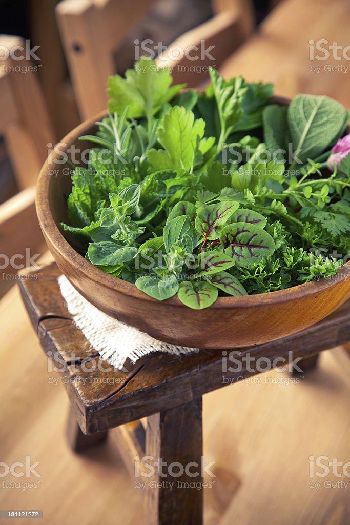 Organic Herbs royalty-free stock photo