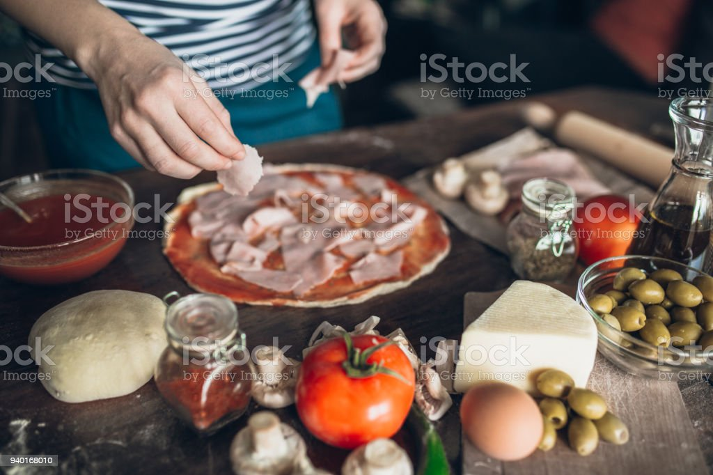 Bio-Zutaten für beste pizza – Foto
