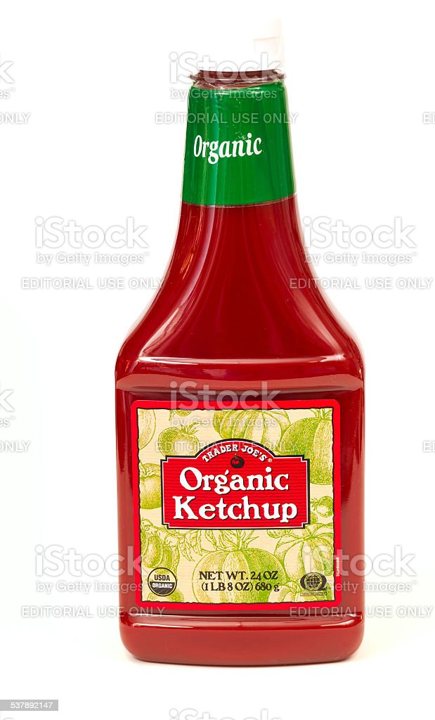 Organic ketchup stock photo