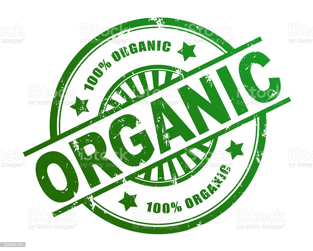 Etiqueta orgánicas - foto de stock