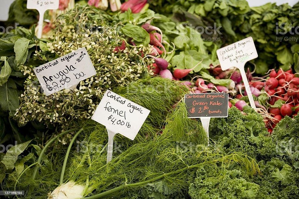Organic labeled fresh produce royalty-free stock photo